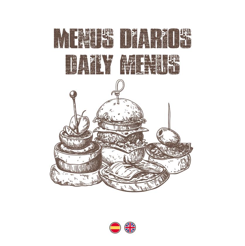 MENÚS DIARIOS / DAILY MENUS (ESP./ENG.)
