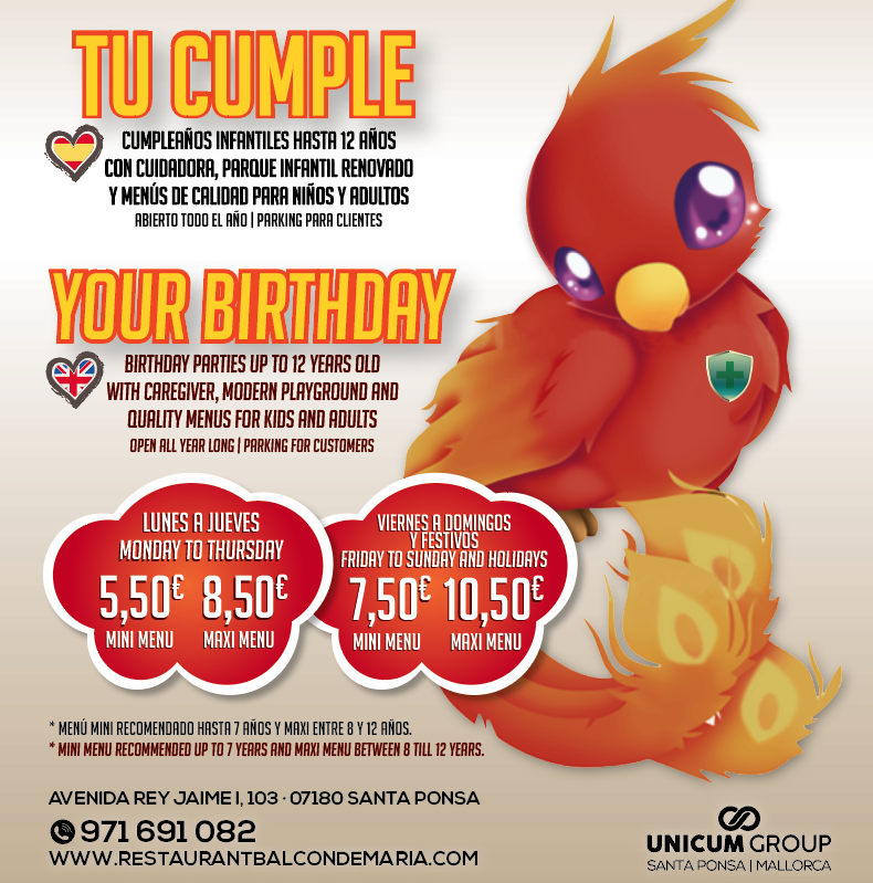 CUMPLES INFANTILES / CHILDREN BIRTHDAYS